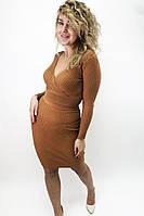 Юбочный костюм с глубоким вырезом Vinceotto - св-коричн цвет, S/M (есть размеры), фото 1