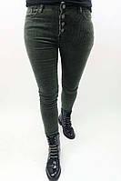 Вельветовые брюки на пуговицах Sangogo - хаки цвет, L (есть размеры), фото 1
