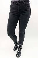 Стрейчевые черные джинсы с высокой посадкой Rong JoJo - черный цвет, 25р (есть размеры), фото 1