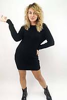 Платье-туника с глубоким кружевным вырезом на спинке Enzoria - черный цвет, S (есть размеры), фото 1