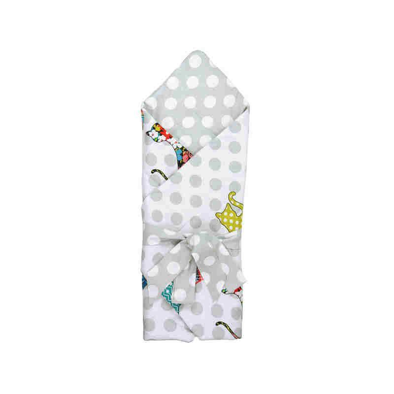"""Одеяло-конверт для новорожденных Руно """"Cat"""" 85х85 см (957СУ_Сat)"""