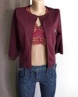 Пиджак фиолетовый укороченный