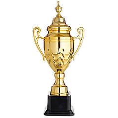 Кубок спортивный с ручками и крышкой (металл, пластик, h-62см, b-32см, d чаши-18см, золото) XP-1465B PZ-UP-1337B