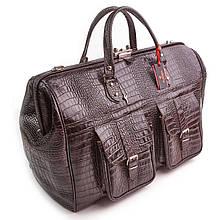 Сумка дорожная саквояж кожаный коричневый Eminsa 6519-4-3