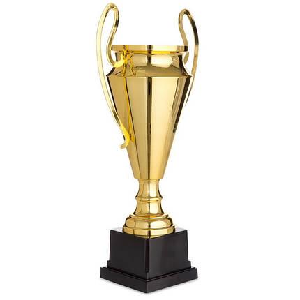 Кубок спортивный с ручками (металл, пластик, h-49,5см, b-25,5см, d чаши-16см, золото) PZ-1601A, фото 2