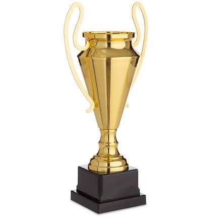 Кубок спортивный с ручками (металл, пластик, h-38см, b-19см, d чаши-11см, золото) PZ-1601C, фото 2