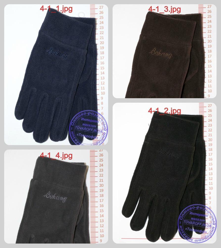 Оптом мужские флисовые перчатки - Черные, серые, коричневые, синие - 4-1