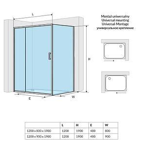 Двері розсувні EXCELLENT Seria 201 1400 (KAAC.1805.1400.LP), фото 2