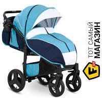 Прогулочная коляска- книжка одноместная Camarelo Elf XEL-08-BLACK голубой голубой