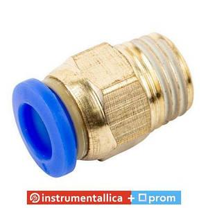Соединитель быстроразьемный наружная резьба 1/2 - пластиковый шланг 10 мм SPC10-04 Airkraft