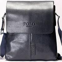 Мужская сумка на плече POLO  синего цвета