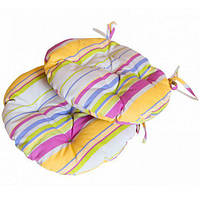 Подушка на стул круглая Stripe Прованс (010934)