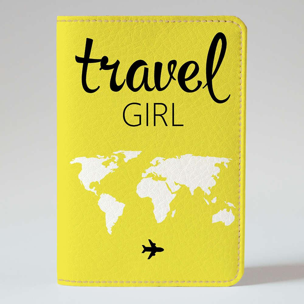Обкладинка на паспорт v.1.0. Fisher Gifts 1022 TRAVEL GIRL (еко-шкіра)
