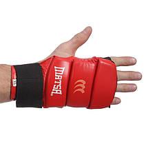 Перчатки для Джиу Джитсу кожаные Matsa (S-XL, манжет на резинке) Красный L PZ-MA-1804_1, фото 3