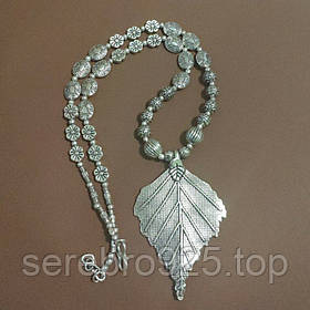Серебряное массивное ожерелье