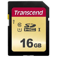 Карта памяти Transcend 16GB SDHC class 10 UHS-I U1 (TS16GSDC500S)