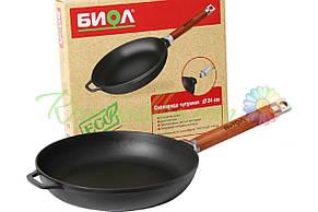 Сковорода чугунная Биол - 200 х 45 мм, оптима