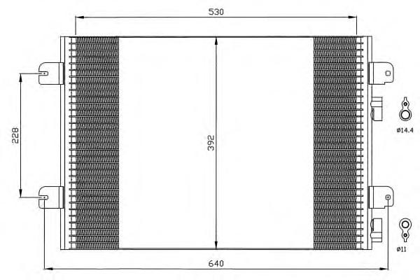 Радіатор кондиціонера 1.5 DCI-1.6 16V Logan/MCV/Sandero NRF, 35542