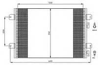 Радиатор кондиционера 1.5DCI-1.6 16V Logan/MCV/Sandero NRF, 35542
