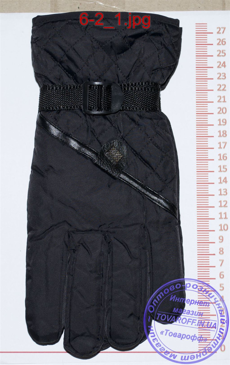 Мужские болоневые перчатки - Черные - №6-2