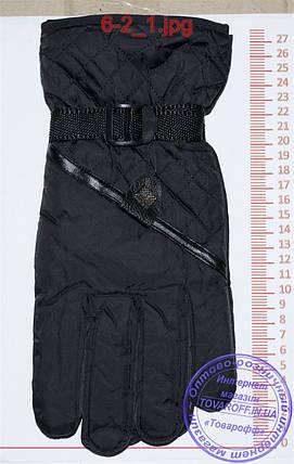 Мужские болоневые перчатки - Черные - №6-2, фото 2