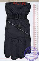 Оптом мужские болоневые перчатки - Черные - №6-2