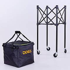 Корзина для мячиков Odear (металл, полиэстер, 35х35х90см, вместительность 160шт мячей, черный) PZ-BT-0464