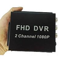 AHD видеорегистратор на 2 камеры Pomiacam MDVR для такси, автобусов, грузовиков, 2 Мп, Full HD 1080P,  SD до 128 Гб, пульт ДУ