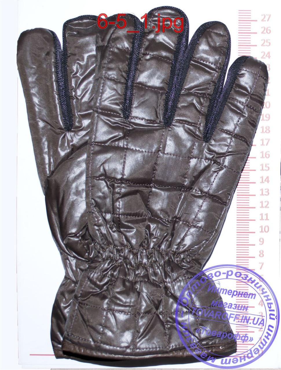 Оптом мужские болоневые перчатки - Черные, серые, коричневые - №6-4