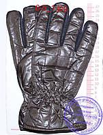 Оптом мужские болоневые перчатки - Черные, серые, коричневые - №6-4, фото 1