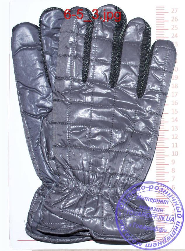 Оптом мужские болоневые перчатки - Черные, серые, коричневые - №6-4, фото 2
