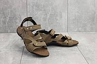 Босоножки StepWey 7561 (лето, женские, натуральная кожа, оливковый), фото 1