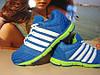 Женские кроссовки для бега VEER голубо-салатовые 41 р.
