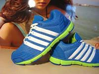 Женские кроссовки для бега VEER голубо-салатовые 39 р.