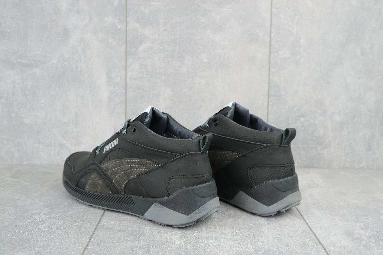 Кроссовки мужские CrosSAV 315 черные (натуральная кожа, зима)