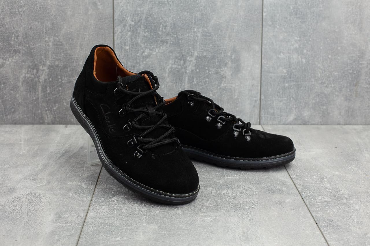 Мужские Повседневная обувь замшевые весна/осень черные Yuves 650