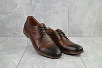 Мужские туфли кожаные весна/осень коричневые Vivaro 555, фото 1