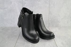 Женские ботинки кожаные зимние черные Sezar 35k