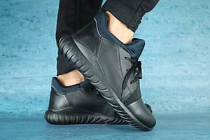 Мужские кроссовки кожаные зимние черные Best Vak Б 35 -01