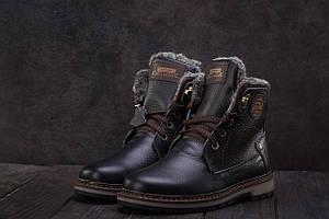 Подростковые ботинки кожаные зимние черные Zangak 137