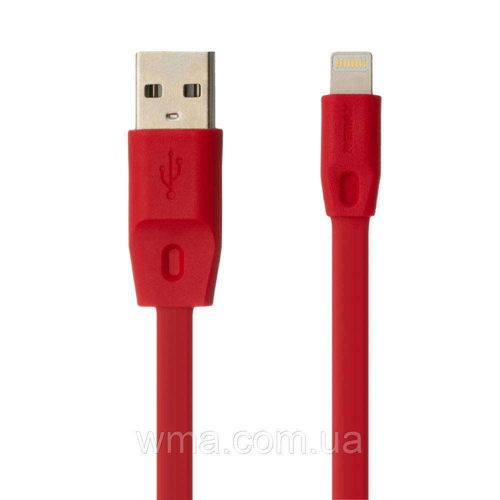 Кабель для зарядки USB (шнур для зарядки телефонов) Remax RC-001i Full Speed Lightning Цвет Красный