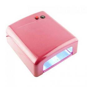 УФ лампа для маникюра и педикюра 36Вт таймер 120сек ZM818 розовая