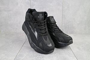 Мужские кроссовки искусственная кожа зимние черные Situo 989 -2