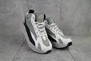 Мужские кроссовки искусственная кожа зимние серые-белые Situo 989 -5