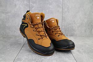Мужские кроссовки искусственная кожа зимние рыжие-черные Situo A51 -3