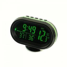 Часы автомобильные - термометр - вольтметр VST-7009V две подсветки