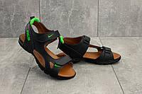 Босоножки Yuves 311 (Nike) (лето, подростковые, натуральная кожа, синий)