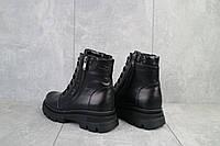 Женские ботинки кожаные зимние черные Kristi Vita, фото 1