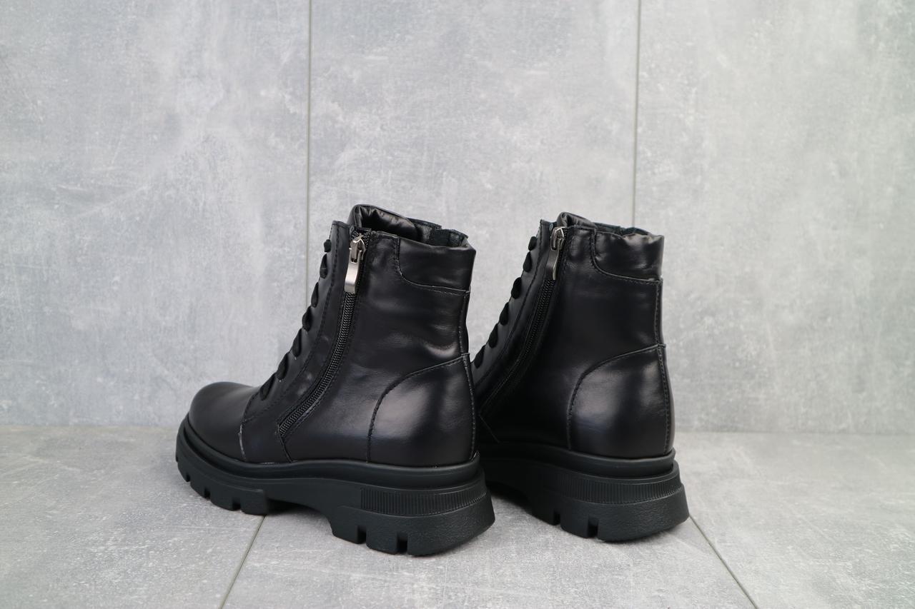 Женские ботинки кожаные зимние черные Kristi Vita