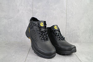 Мужские ботинки кожаные зимние черные Anser 124